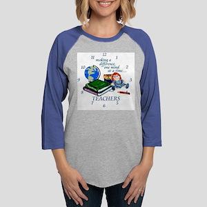 TeachDiffClock.JPG Womens Baseball Tee