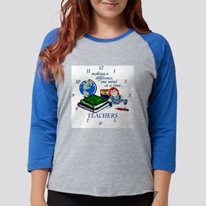 TeachDiffClock Womens Baseball Tee