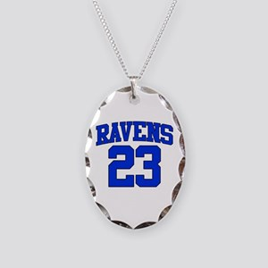 Ravens 23 Necklace Oval Charm