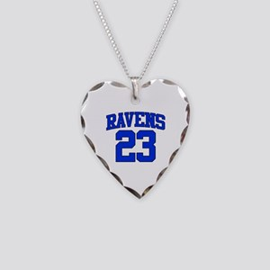 Ravens 23 Necklace Heart Charm