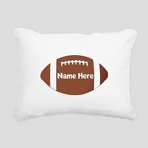 Personalized Football Rectangular Canvas Pillow
