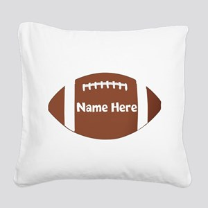 Personalized Football Square Canvas Pillow