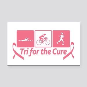 Tri For The Cure (Breast Cancer) Rectangle Car Mag