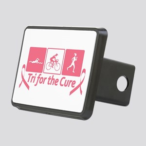 Tri For The Cure (Breast Cancer) Rectangular Hitch