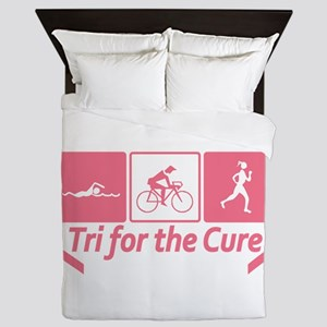 Tri For The Cure (Breast Cancer) Queen Duvet