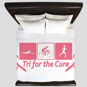 Tri For The Cure (Breast Cancer) King Duvet