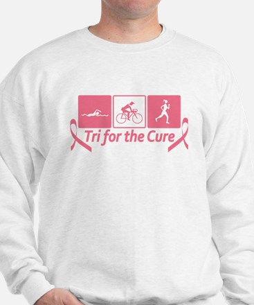 Tri For The Cure (Breast Cancer) Sweatshirt