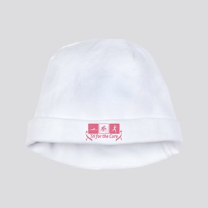 Tri For The Cure (Breast Cancer) baby hat