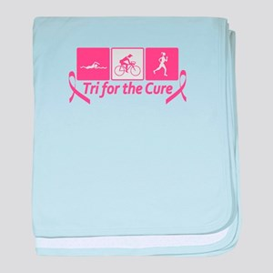Tri For The Cure (Breast Cancer) baby blanket