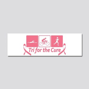 Tri For The Cure (Breast Cancer) Car Magnet 10 x 3
