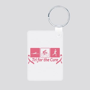 Tri For The Cure (Breast Cancer) Aluminum Photo Ke