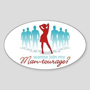 """Man-Tourage"" Oval Sticker"