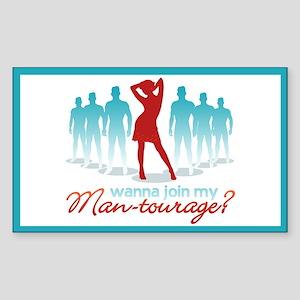 """""""Man-Tourage"""" Rectangle Sticker"""