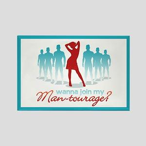 """""""Man-Tourage"""" Rectangle Magnet"""