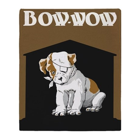 Bow Wow Puppy Throw Blanket
