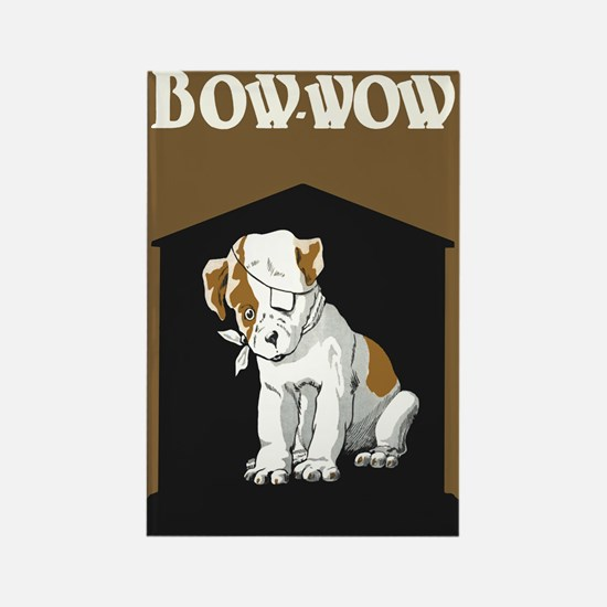 Bow Wow Puppy Rectangle Magnet