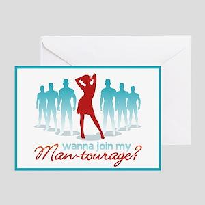 """""""Man-Tourage"""" Greeting Cards (Pk of 10)"""
