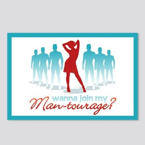 """""""Man-Tourage"""" Postcards (Package of 8)"""