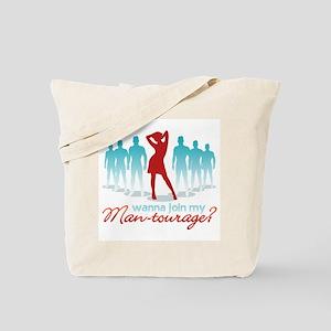 """""""Man-Tourage"""" Tote Bag"""