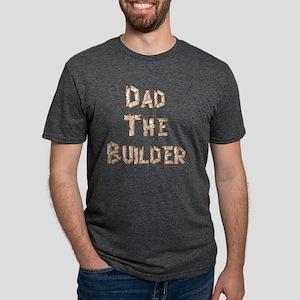 Dad The Builder flat Mens Tri-blend T-Shirt