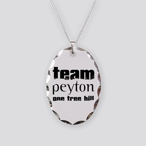 Team Peyton - One Tree Hill Necklace Oval Charm