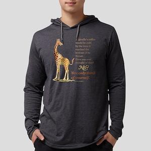Funny Coffee Giraffe Mens Hooded Shirt