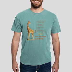 Funny Coffee Giraffe Mens Comfort Colors Shirt