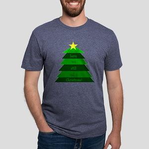 10x10still_christmas_trans2 Mens Tri-blend T-Shirt
