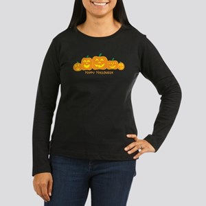 Happy Pumpkins Women's Long Sleeve Dark T-Shirt