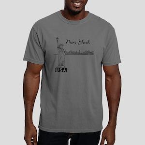 NY_10x10_Skyline_Statue_ Mens Comfort Colors Shirt