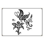 Black and White Tribal Butterfly Banner