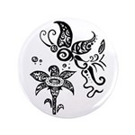 Black and White Tribal Butterfly 3.5