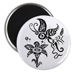 Black and White Tribal Butterfly 2.25
