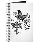 Black and White Tribal Butterfly Journal