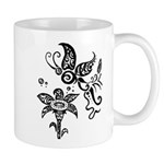 Black and White Tribal Butterfly Mug