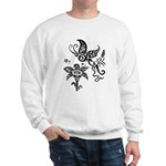 Black and White Tribal Butterfly Sweatshirt