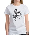 Black and White Tribal Butterfly Women's T-Shirt