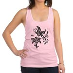 Black and White Tribal Butterfly Racerback Tank To