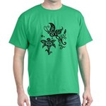 Black and White Tribal Butterfly Dark T-Shirt