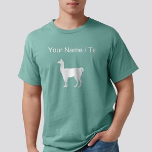 Llama Silhouette (Custom Mens Comfort Colors Shirt