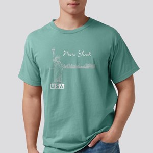 NY_12x12_Skyline_Statue_ Mens Comfort Colors Shirt