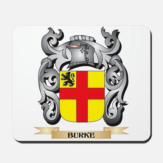Burke Family Crest - Burke Coat of Arms Mousepad