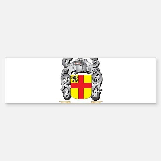 Burke Family Crest - Burke Coat of Bumper Bumper Bumper Sticker
