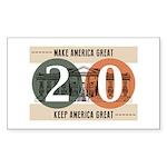 Vote Trump 2020 Sticker (Rectangle 10 pk)