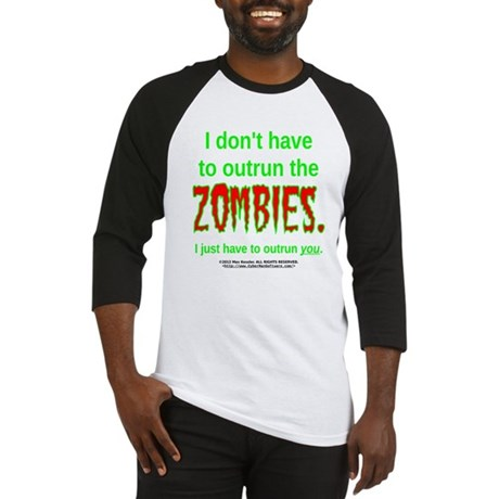 Outrun The Zombies Baseball Jersey