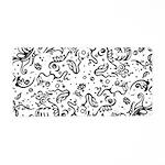 Black and white tribal swirls Aluminum License Pla