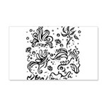 Black and white tribal swirls 20x12 Wall Decal