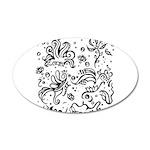 Black and white tribal swirls 35x21 Oval Wall Deca