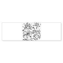 Black and white tribal swirls Bumper Sticker