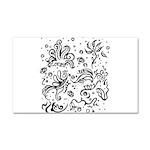 Black and white tribal swirls Car Magnet 20 x 12